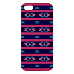 Stripes And Other Shapes Pattern			iphone 5s Premium Hardshell Case by LalyLauraFLM