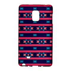 Stripes and other shapes patternSamsung Galaxy Note Edge Hardshell Case by LalyLauraFLM