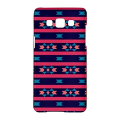 Stripes And Other Shapes Patternsamsung Galaxy A5 Hardshell Case by LalyLauraFLM