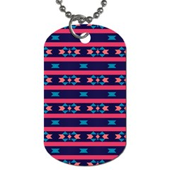 Stripes And Other Shapes Pattern 			dog Tag (one Side) by LalyLauraFLM