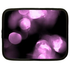 Purple Circles No  2 Netbook Case (large) by timelessartoncanvas