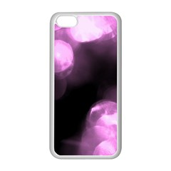 Purple Circles No  2 Apple Iphone 5c Seamless Case (white) by timelessartoncanvas