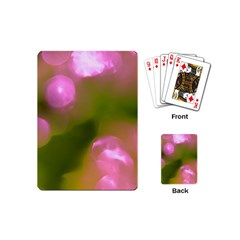 Pink And Green Circles Playing Cards (mini)  by timelessartoncanvas