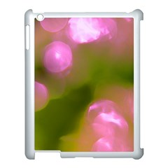 Pink And Green Circles Apple Ipad 3/4 Case (white) by timelessartoncanvas