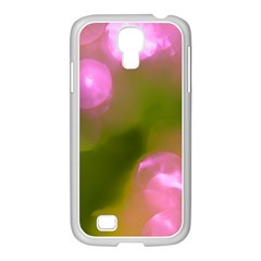 Pink And Green Circles Samsung Galaxy S4 I9500/ I9505 Case (white) by timelessartoncanvas