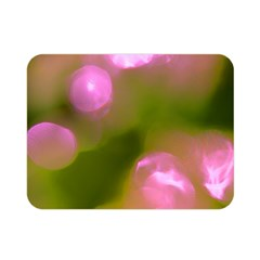 Pink And Green Circles Double Sided Flano Blanket (mini)  by timelessartoncanvas