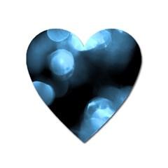 Blue Circles Heart Magnet by timelessartoncanvas