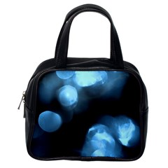 Blue Circles Classic Handbags (one Side) by timelessartoncanvas