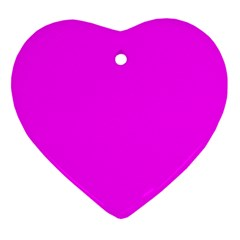 Trendy Purple  Ornament (Heart)  by Costasonlineshop
