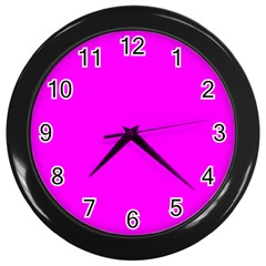 Trendy Purple  Wall Clocks (Black) by Costasonlineshop