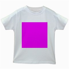 Trendy Purple  Kids White T Shirts by Costasonlineshop