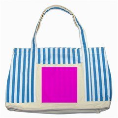 Trendy Purple  Striped Blue Tote Bag  by Costasonlineshop