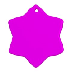 Trendy Purple  Ornament (Snowflake)  by Costasonlineshop