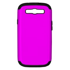 Trendy Purple  Samsung Galaxy S Iii Hardshell Case (pc+silicone) by Costasonlineshop