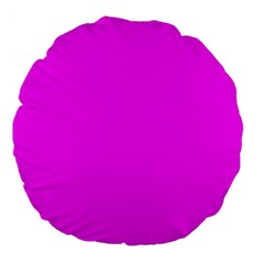 Trendy Purple  Large 18  Premium Round Cushions by Costasonlineshop