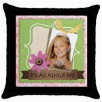 kids - Throw Pillow Case (Black)