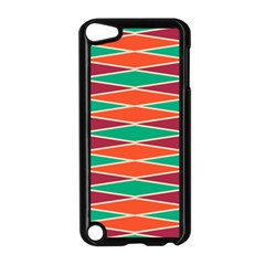 Distorted Rhombus Pattern			apple Ipod Touch 5 Case (black) by LalyLauraFLM