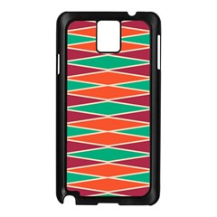 Distorted Rhombus Pattern			samsung Galaxy Note 3 N9005 Case (black) by LalyLauraFLM