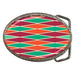 Distorted Rhombus Pattern belt Buckle by LalyLauraFLM