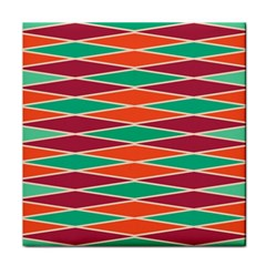 Distorted Rhombus Pattern face Towel by LalyLauraFLM