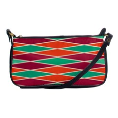 Distorted Rhombus Pattern 			shoulder Clutch Bag by LalyLauraFLM