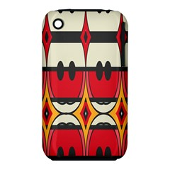 Rhombus Ovals And Stripesapple Iphone 3g/3gs Hardshell Case (pc+silicone) by LalyLauraFLM