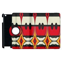 Rhombus Ovals And Stripesapple Ipad 3/4 Flip 360 Case by LalyLauraFLM