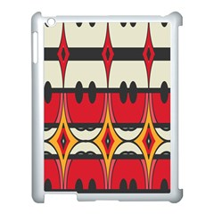 Rhombus Ovals And Stripes			apple Ipad 3/4 Case (white) by LalyLauraFLM