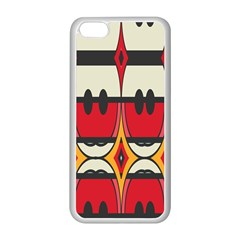 Rhombus Ovals And Stripesapple Iphone 5c Seamless Case (white) by LalyLauraFLM