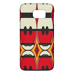 Rhombus Ovals And Stripes			samsung Galaxy S6 Hardshell Case by LalyLauraFLM