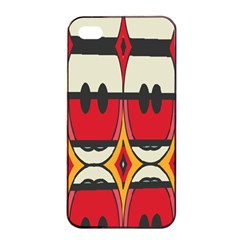 Rhombus Ovals And Stripesapple Iphone 4/4s Seamless Case (black) by LalyLauraFLM