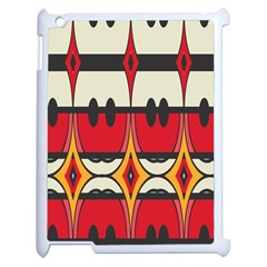 Rhombus Ovals And Stripesapple Ipad 2 Case (white) by LalyLauraFLM
