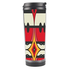 Rhombus Ovals And Stripes Travel Tumbler by LalyLauraFLM