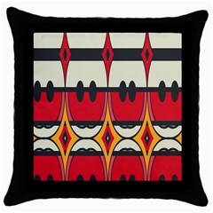 Rhombus Ovals And Stripes 			throw Pillow Case (black) by LalyLauraFLM