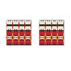 Rhombus Ovals And Stripes 			cufflinks (square)