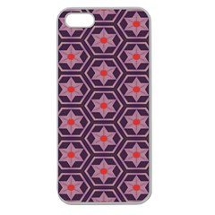 Flowers And Honeycomb Patternapple Seamless Iphone 5 Case (clear) by LalyLauraFLM