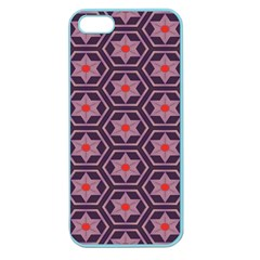 Flowers And Honeycomb Pattern			apple Seamless Iphone 5 Case (color) by LalyLauraFLM