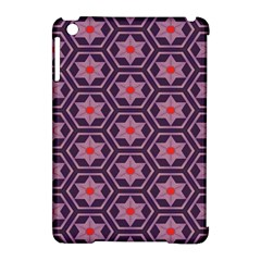 Flowers And Honeycomb Pattern			apple Ipad Mini Hardshell Case (compatible With Smart Cover) by LalyLauraFLM