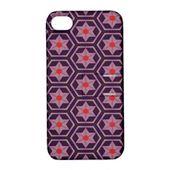 Flowers And Honeycomb Pattern			apple Iphone 4/4s Hardshell Case With Stand by LalyLauraFLM