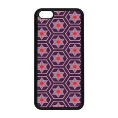 Flowers And Honeycomb Pattern			apple Iphone 5c Seamless Case (black) by LalyLauraFLM