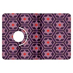 Flowers And Honeycomb Patternkindle Fire Hdx Flip 360 Case by LalyLauraFLM