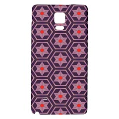 Flowers And Honeycomb Pattern			samsung Note 4 Hardshell Back Case by LalyLauraFLM