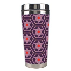 Flowers And Honeycomb Pattern Stainless Steel Travel Tumbler by LalyLauraFLM