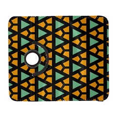 Green Triangles And Other Shapes Pattern			samsung Galaxy S Iii Flip 360 Case by LalyLauraFLM
