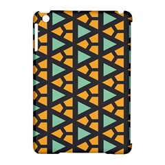 Green Triangles And Other Shapes Pattern			apple Ipad Mini Hardshell Case (compatible With Smart Cover) by LalyLauraFLM