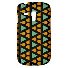Green Triangles And Other Shapes Patternsamsung Galaxy S3 Mini I8190 Hardshell Case by LalyLauraFLM
