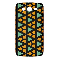 Green Triangles And Other Shapes Pattern			samsung Galaxy Mega 5 8 I9152 Hardshell Case by LalyLauraFLM