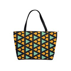 Green Triangles And Other Shapes Pattern Classic Shoulder Handbag by LalyLauraFLM