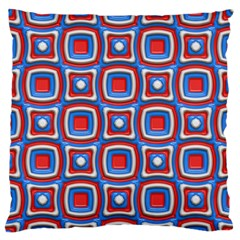 3d Squares 	large Flano Cushion Case (two Sides) by LalyLauraFLM