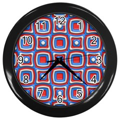 3d Squares 			wall Clock (black) by LalyLauraFLM